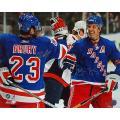 New York Rangers Chris Drury/Brendan Shanahan Dual Signed Celebration Photo