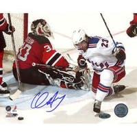Steiner Sports Chris Drury Celebrating Goal vs Devils Photograph