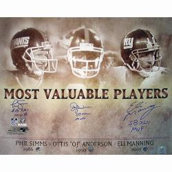 Steiner Sports OJ Anderson/ Eli Manning/ Phil Simms Signed MVP Collage - Thumbnail 0