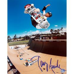 Tony Hawk Half Pipe Action in Blue 16x20 Autographed Photo - Thumbnail 0