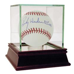 "Steiner Sports Rickey Henderson MLB Baseball w/ ""HOF 09"" Inscription"