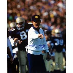 Steiner Sports Lou Holtz Pointing with White Sweater by Ken Regan Photograph