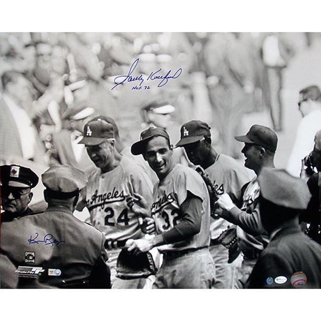 Steiner Sports Sandy Koufax Celebrating w/ Teammates B/W 16x20 Photograph