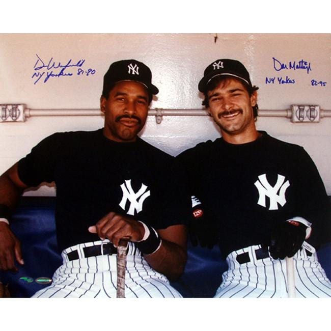 New York Yankees Don Mattingly/Dave Winfield Dugout Dual Autographed Photo