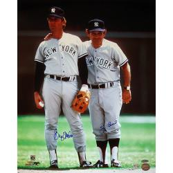 Steiner Sports Graig Nettles w/ Yogi Berra Dual Signed Road Jersey Photograph