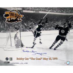 Steiner Sports Bobby Orr Flying Goal 16x20 Photograph w/ 'May 10 1970' Inscription - Thumbnail 0
