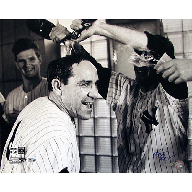 Steiner Sports Ken Regan Signed Yogi Berra Champagne Celebration Photograph