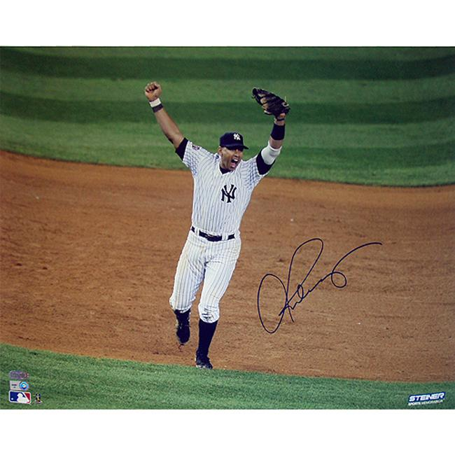 "New York Yankees Alex Rodriguez 09' World Series 16"" x 20"" Autographed Photo with Certificate of Authenticity"