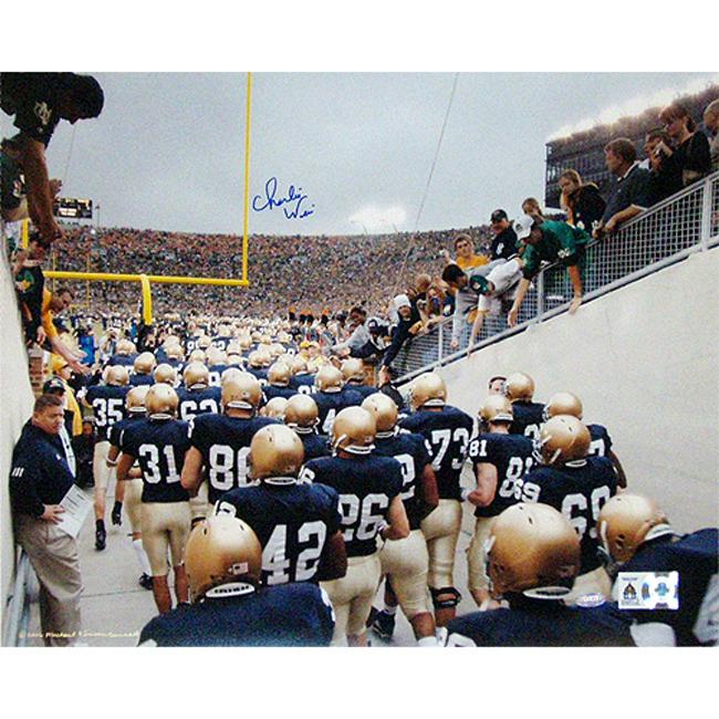 Steiner Sports Official Charlie Weis Photograph