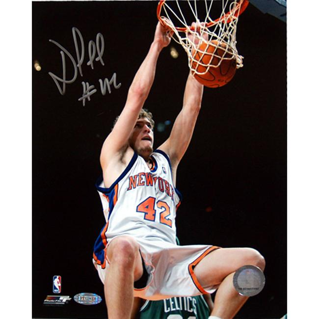 Steiner Sports David Lee Dunk Vs The Boston Celtics Photograph
