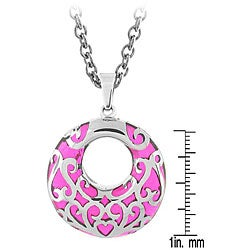 Stainless Steel Pink Unity Necklace - Thumbnail 2