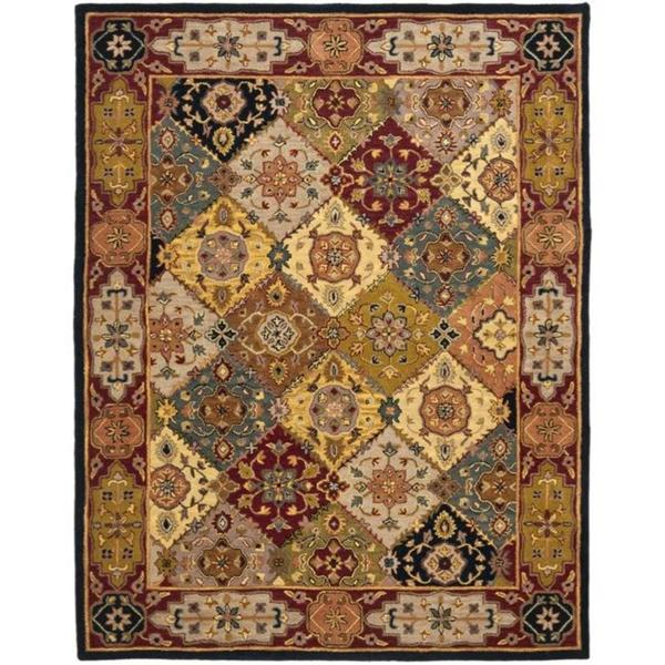 Safavieh Handmade Heritage Traditional Bakhtiari Multi/ Red Wool Area Rug - 9'6 x 13'6