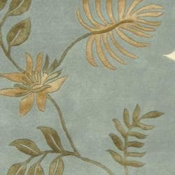 Safavieh Handmade Soho Twigs Light Blue New Zealand Wool Rug (6' x 9') - Thumbnail 2