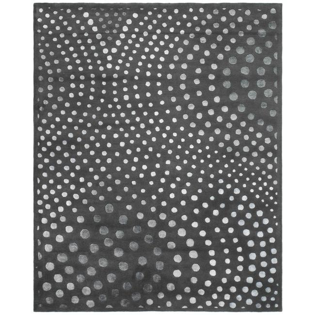 Safavieh Handmade Soho Abstract Wave Dark Grey Wool Rug (6' x 9') - Thumbnail 0