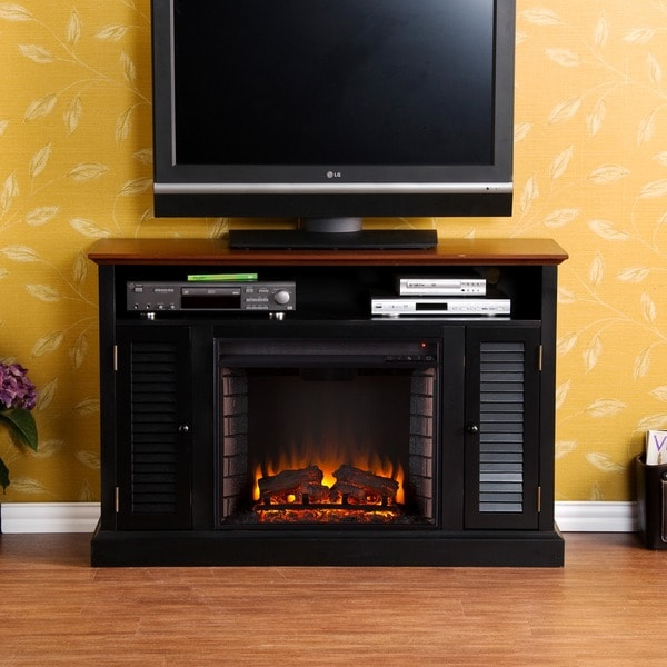 Harper Blvd Herschel Black Media Console Fireplace