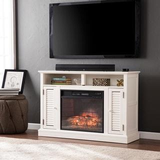 Harper Blvd Herschel Antique White Media Console Fireplace - Thumbnail 0