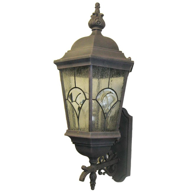 Designers Fountain Indoor/ Outdoor 3-light Gold Wall Lantern