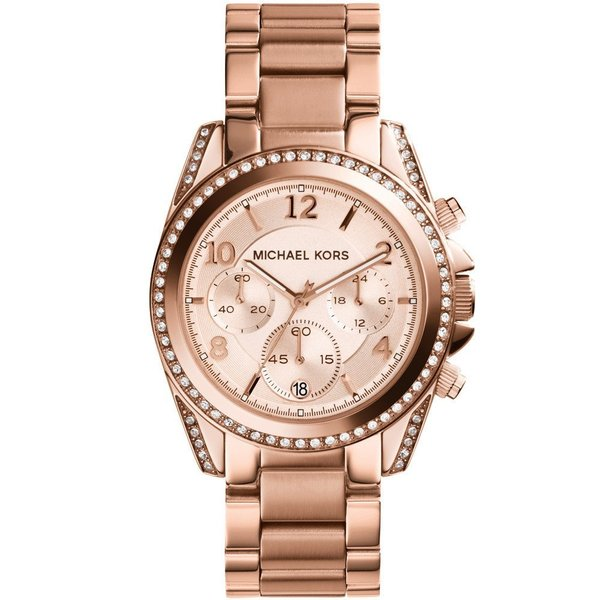 59aa9f6daabb Shop Michael Kors Women s MK5263  Blair  Rose Gold-Tone Chronograph ...