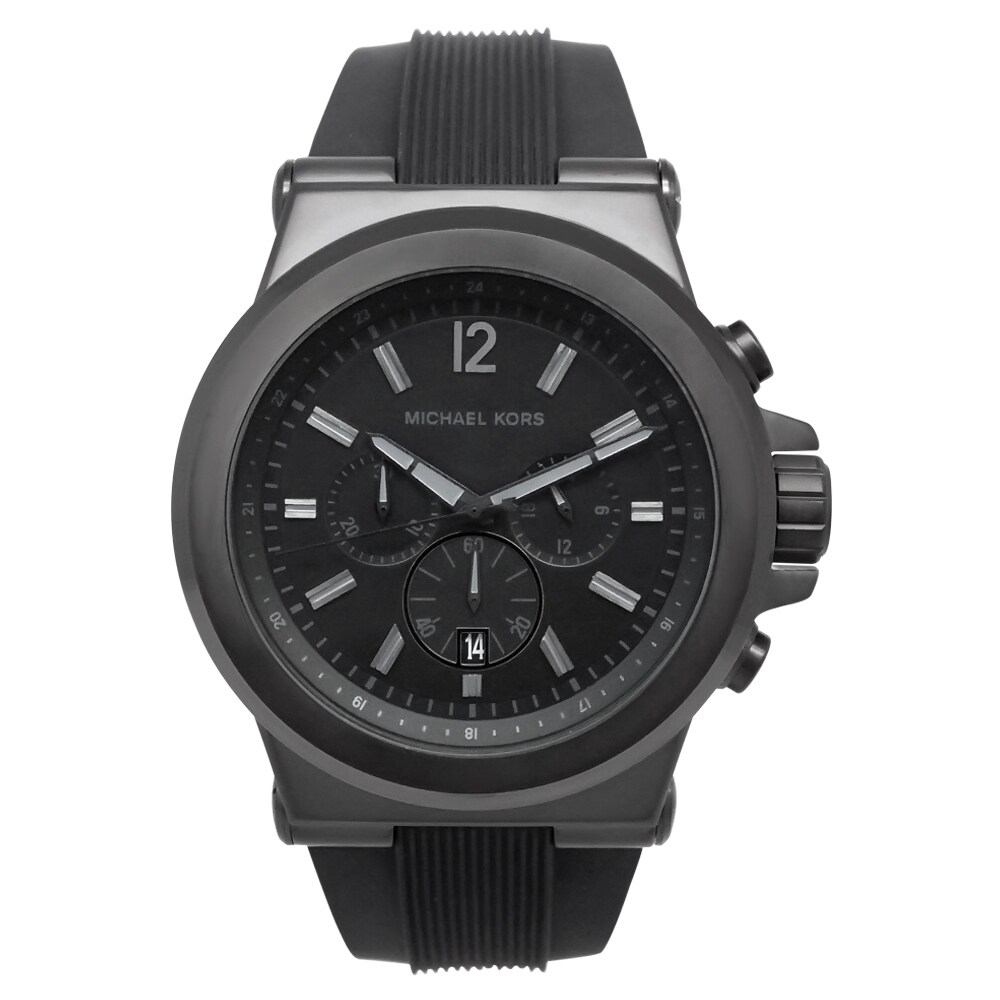 Michael Kors Men's MK8152 Black Silicone Strap Watch, Siz...