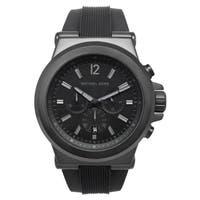 Michael Kors Men's  Black Silicone Strap Watch