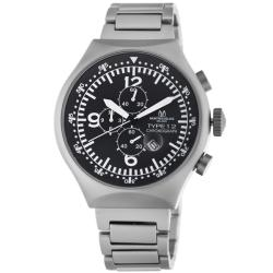 Montres De Luxe Men's '50 MM Type 12' Helicopter Chronograph Watch