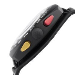 Montres De Luxe Men's 'Black Avio' Chronograph Watch - Thumbnail 1