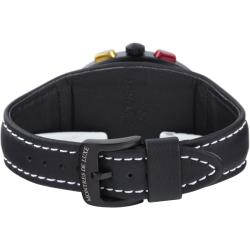 Montres De Luxe Men's 'Black Avio' Chronograph Watch - Thumbnail 2