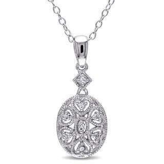 Miadora Sterling Silver Diamond Fashion Necklace
