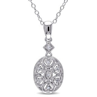 Miadora Sterling Silver Diamond Fashion Necklace