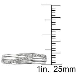 Sterling Silver Diamond Crossover Ring by Miadora