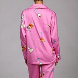 Aegean Women's Plus Cocktail Night Print Pajamas - Thumbnail 1