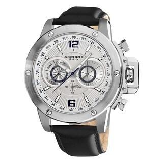 Akribos XXIV Men's Multifunction Stainless Steel Swiss Quartz White Strap Watch|https://ak1.ostkcdn.com/images/products/5337423/P13141019.jpg?_ostk_perf_=percv&impolicy=medium