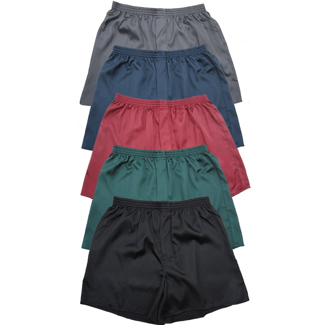 Men's Classic Satin Boxer Shorts (Pack of 5)