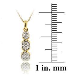 DB Designs 10k Gold 1/10ct TDW Diamond XO Journey Necklace (I-J, I2-I3)