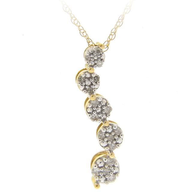 DB Designs 10k Gold 1/8ct TDW Diamond Journey Necklace