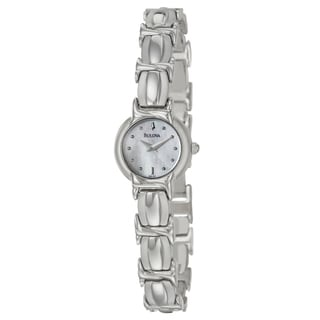 Bulova Women's Stainless Steel White Dial Watch