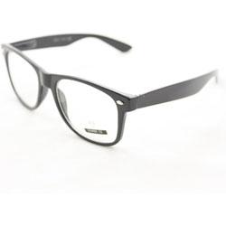 Fashion Sunglasses 222CW Black Glassy Frame Clear Lens - Thumbnail 1