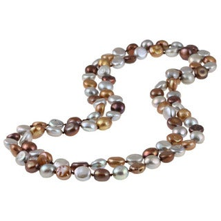 Miadora Multi-colored Cultured Freshwater Pearl 50-inch Endless Necklace (9-11 mm)
