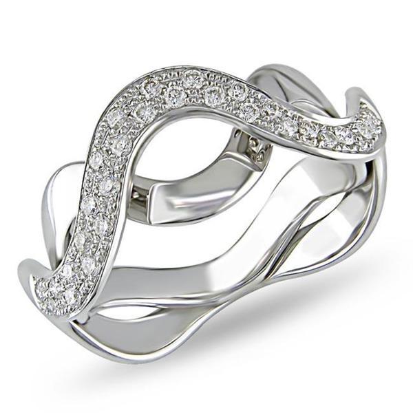 Miadora 18k Gold 1/4ct TDW Diamond Wave Ring