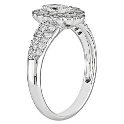 14k White Gold 3/4ct TDW Marquise Cut Diamond Ring (G-H, VS1-VS2)