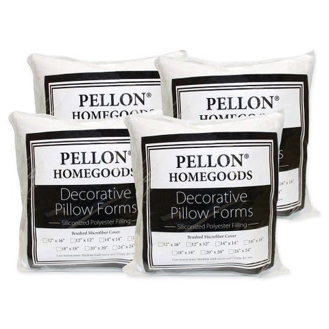 Pellon 18-inch x 18-inch Decorative Pillow Inserts (Set of 4)
