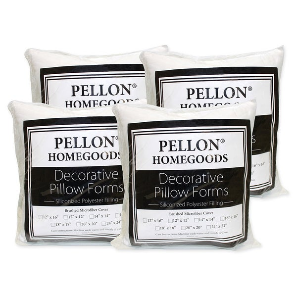 Throw Pillow Inserts 18 X 18 : Pellon Decorative Pillow Inserts 18-inch x 18-inch (Set of 4) - Free Shipping On Orders Over $45 ...