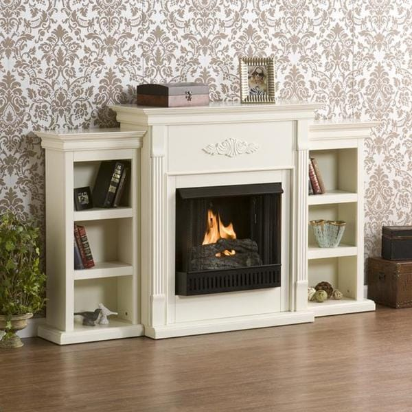 Shop Upton Home Dublin Ivory Gel Fireplace Free Shipping