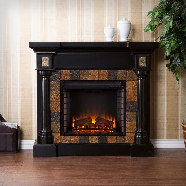 Harper Blvd Blanchard Black Electric Fireplace