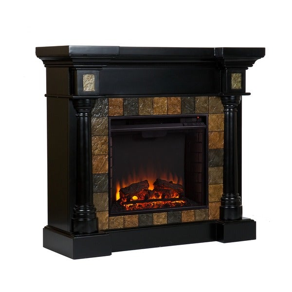 Harper Blvd Blanchard Black Electric Fireplace