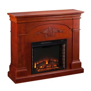 Link to Copper Grove Taber Mahogany Electric Fireplace - N/A Similar Items in Fireplaces
