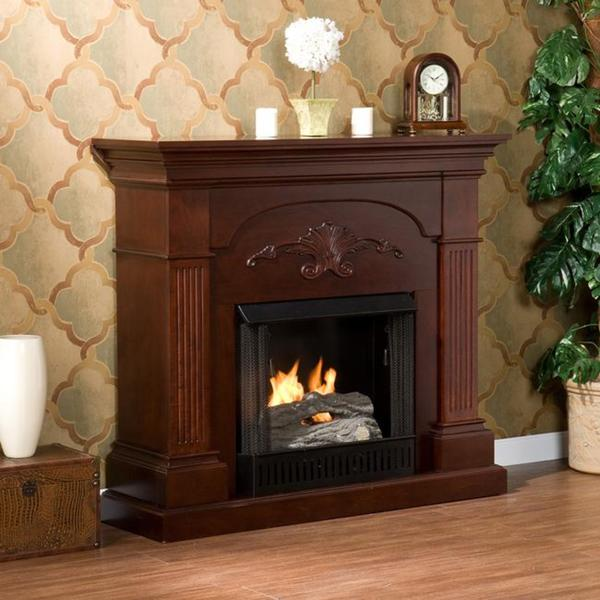 Upton Home Gilbert Mahogany Gel Fireplace