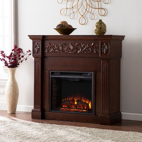 Gracewood Hollow Ortiz Espresso Electric Fireplace
