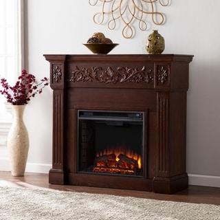 Gracewood Hollow Ortiz Espresso Electric Fireplace