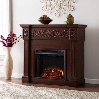 Harper Blvd Wellington Espresso Electric Fireplace